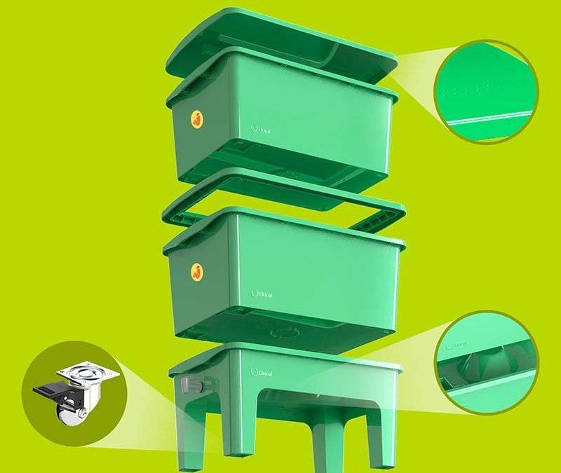 Composteira residencial compacta